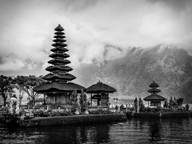 The temples of Ulun Danu in Bali, Indonesia