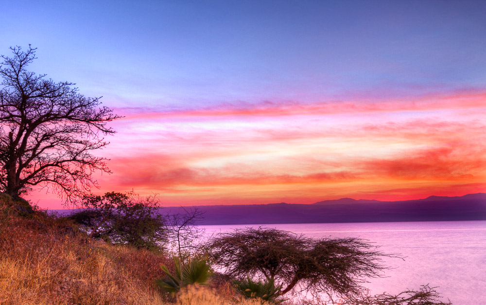 Sunrise at Borati Lodge in Lake Langano