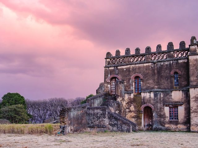 The palace of Yohannes I in the historical compound of Fasil Ghebbi, Gondar, Ethiopia